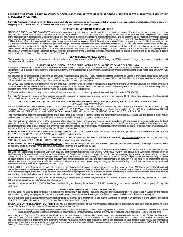 Health insurance claim form cms1500 (hosa)