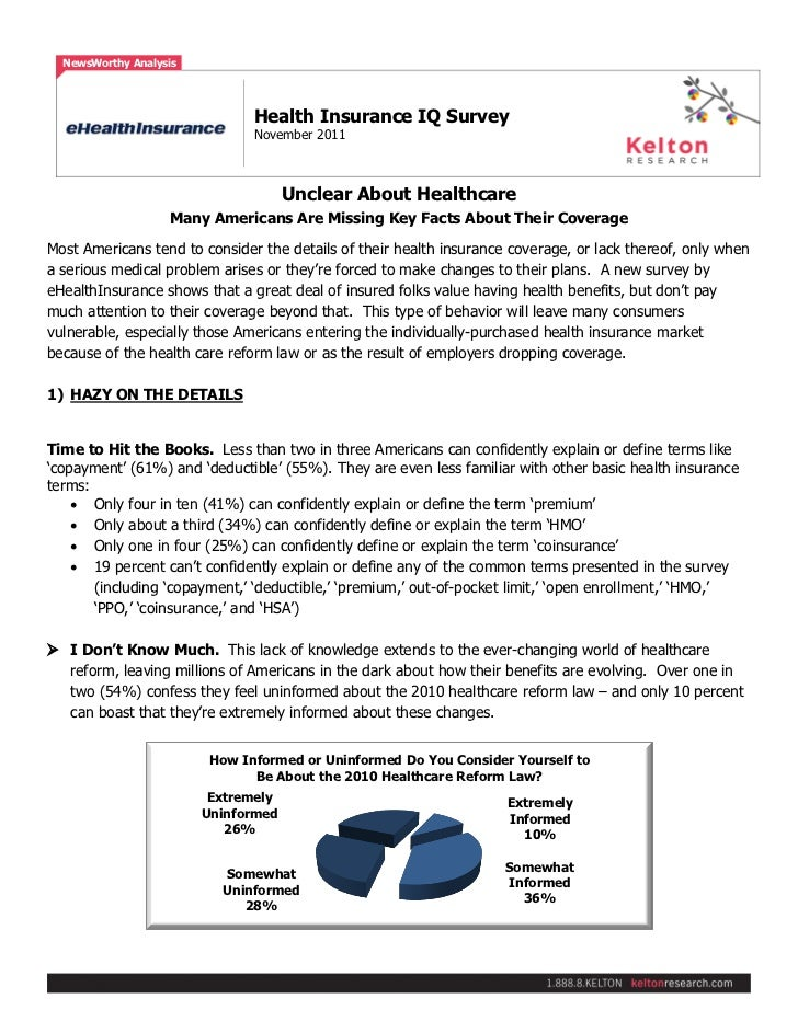 Page 1 of 3  NewsWorthy Analysis                               Health Insurance IQ Survey                               No...