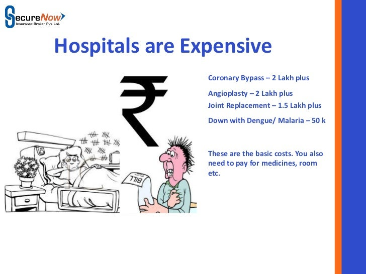 Hospitals are Expensive                    Coronary Bypass – 2 Lakh plus                    Angioplasty – 2 Lakh plus     ...