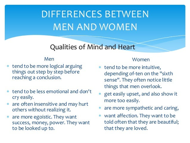 Love difference between man and woman