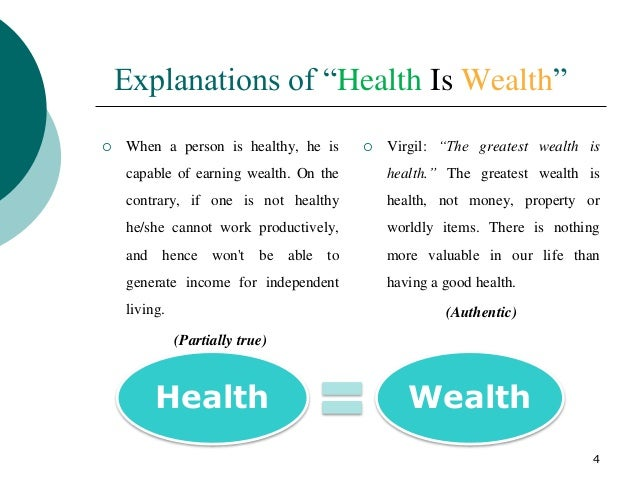 health is wealth short paragraph Health is wealth in short, good health si wealth as no amount of money can cure one of terrible sickness high school english essays 1.