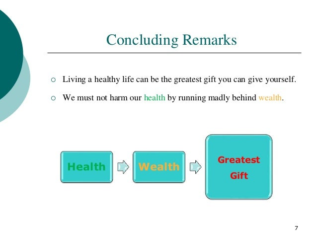 presentation topic health is wealth