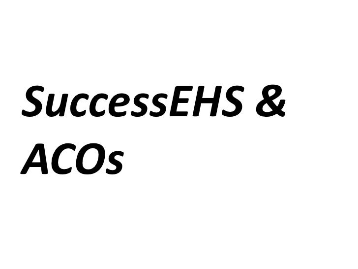 Health It And Acos