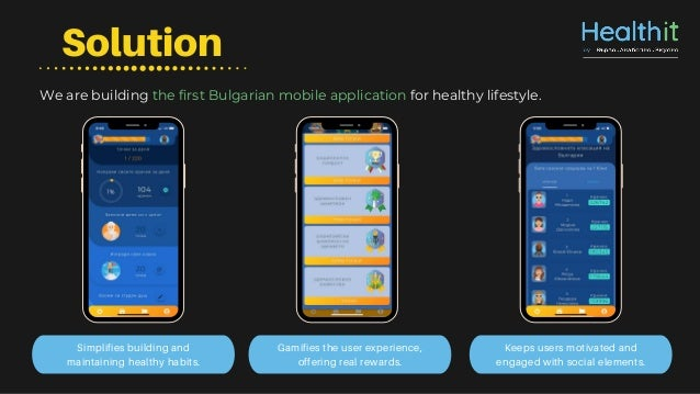 Solution Gamifies the user experience, offering real rewards. Keeps users motivated and engaged with social elements. Simp...