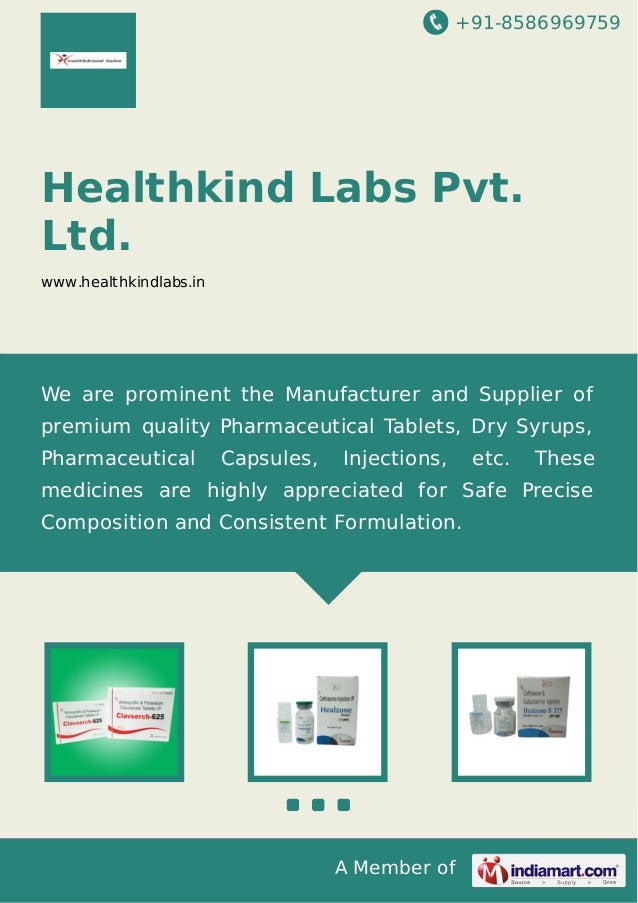 +91-8586969759 A Member of Healthkind Labs Pvt. Ltd. www.healthkindlabs.in We are prominent the Manufacturer and Supplier ...