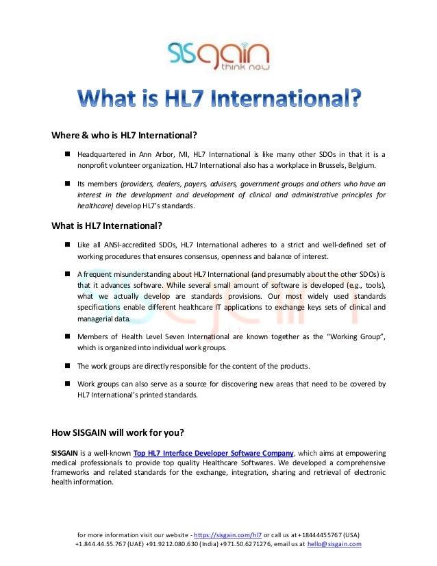 Low Cost HL7 Interface Development Solution Company ▻ SISGAIN