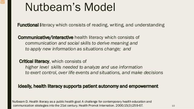 Track 2: Health literacy and health behaviour