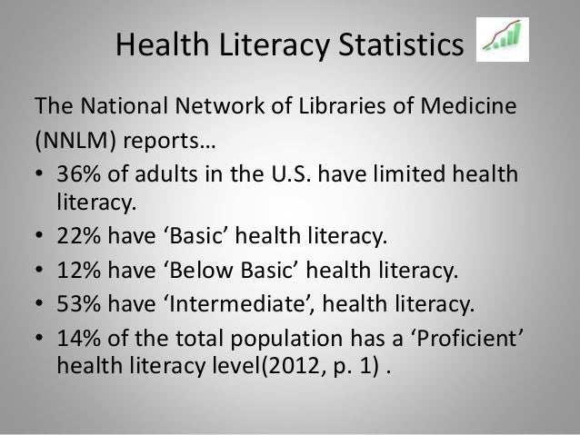 causes for low literacy rate Separately, a survey concluded that poor health literacy is to be expected among  the elderly, minority populations, patients with low.