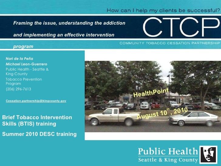 Nori de la Peña Michael Leon-Guerrero Public Health - Seattle & King County Tobacco Prevention Program (206) 296-7613 Brie...