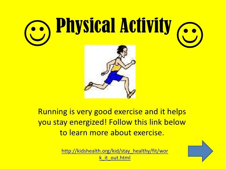 Health powerpoint physical activity toneelgroepblik
