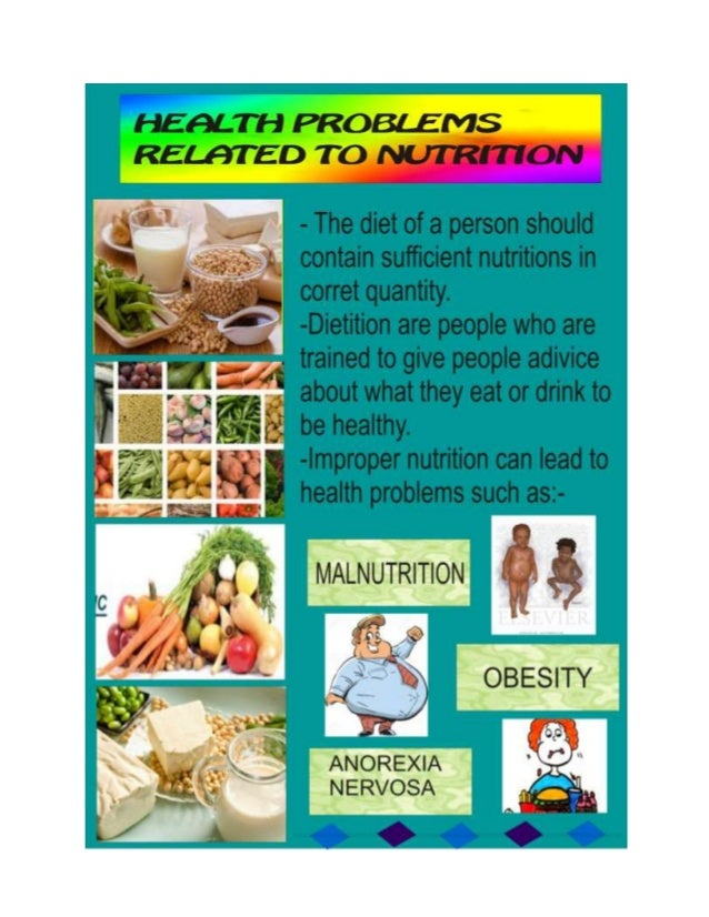 Health problems related to nutrition