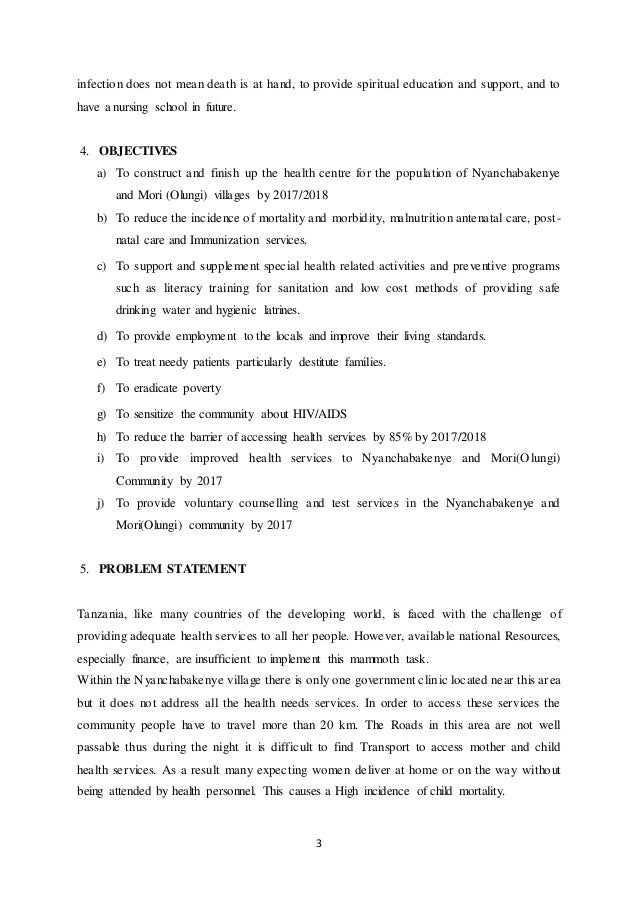 Health project proposal(1)