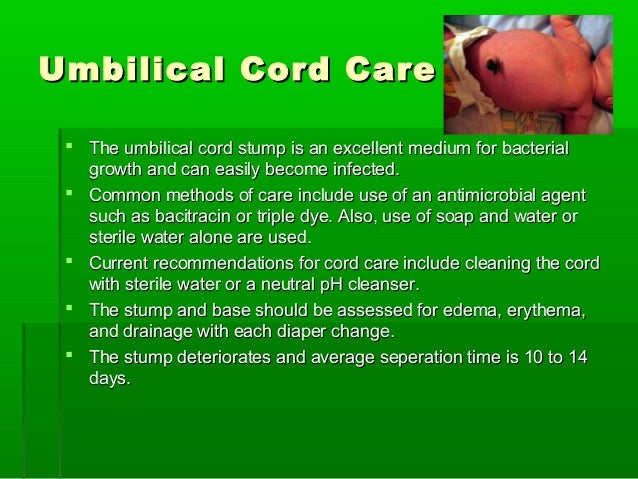 how to tell if the umbilical cord is infected