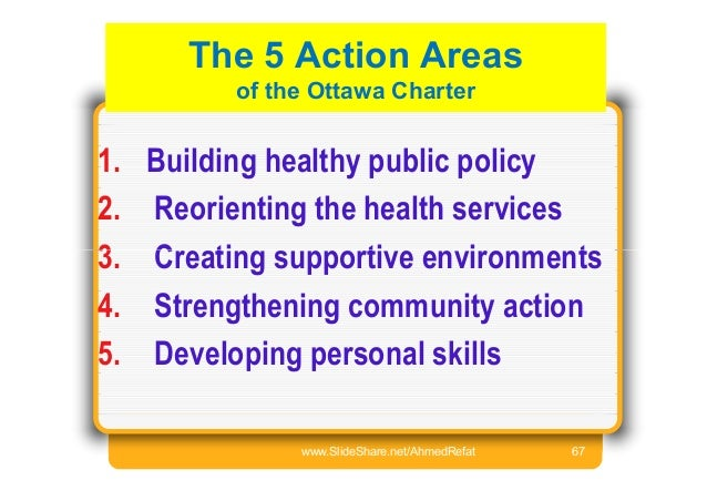 injury prevention policies in the ottawa charter Health promotion based on the five action areas of the ottawa charter build healthy public policy – policy development at all not just their injury.