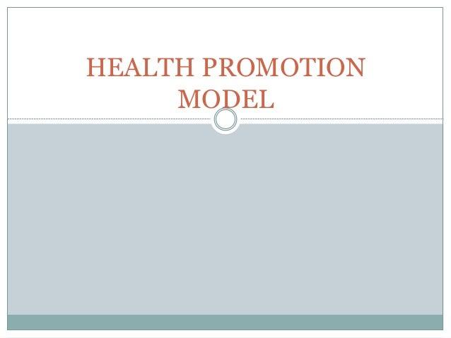 HEALTH PROMOTION  MODEL