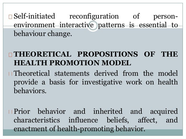 penders health promotion model ppt