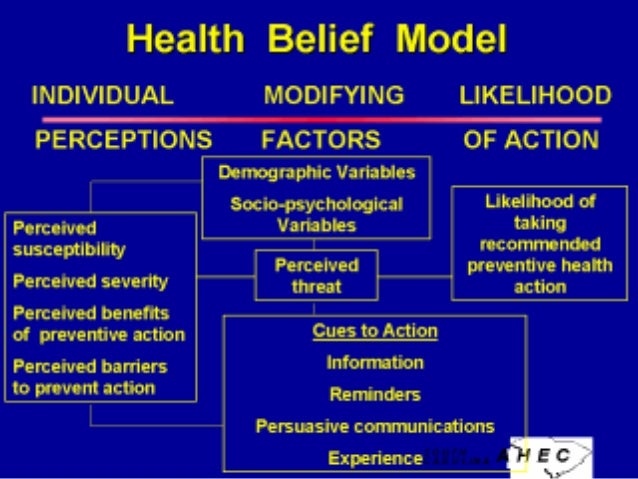 health belief model health and social care essay Using either the health belief model or the health promotion model, identify its major concepts and assumptions explain how the family nurse can design care for families using one of the models.