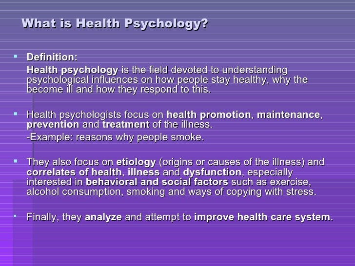 how to become a health psychologist