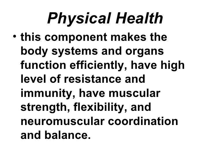 Health (Definition, Dimensions and Appraisal)