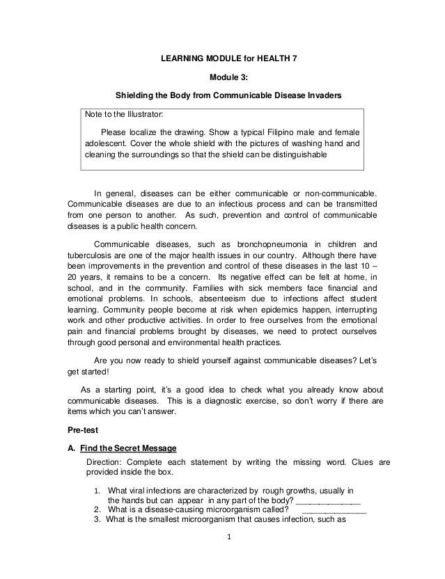 K TO 12 GRADE 7 LEARNING MODULE IN HEALTH Q3 Q4