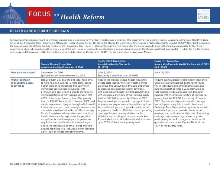 on                                             Health ReformAchieving comprehensive health reform has emerged as a leading...