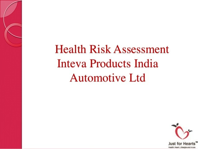 Charming Health Risk Assessment Inteva Products India Automotive Ltd ...