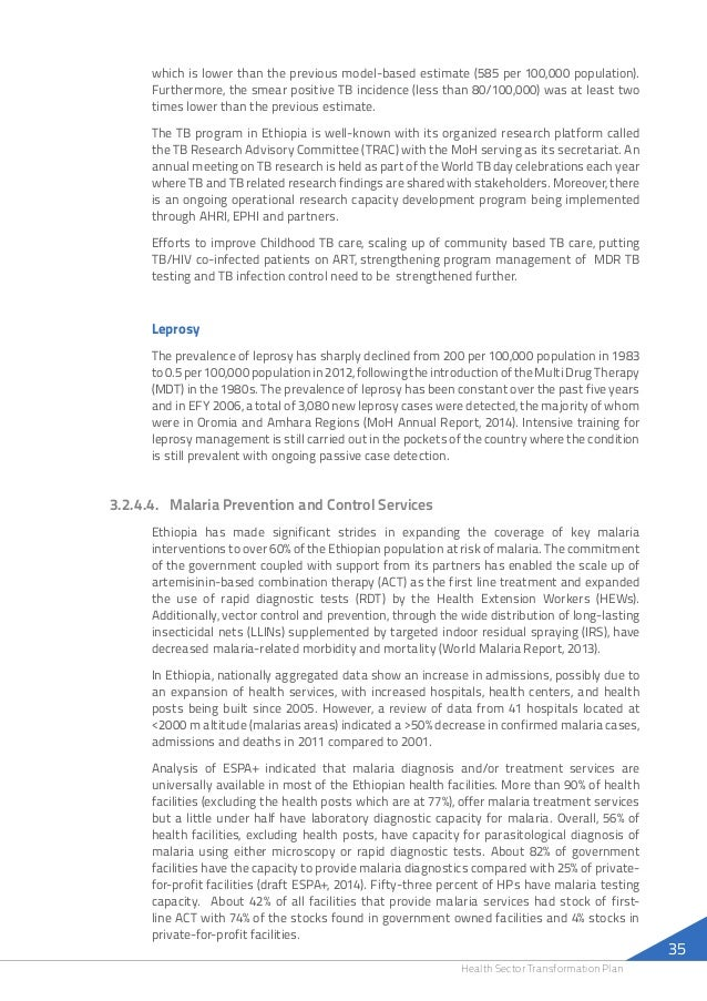 Ethiopian Health Sector Transformation Plan