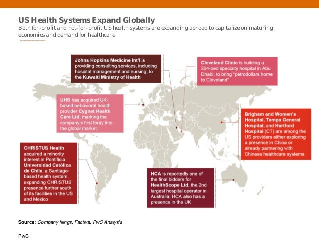 PwC US Health Systems Expand Globally Both for-profit and not-for-profit US health systems are expanding abroad to capital...