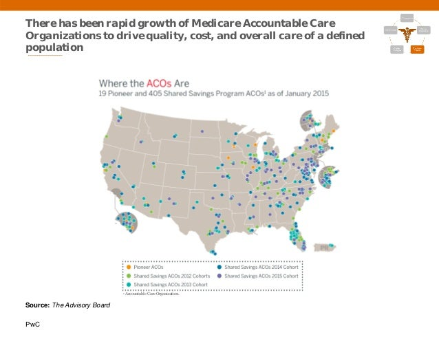 PwC There has been rapid growth of Medicare Accountable Care Organizations to drive quality, cost, and overall care of a d...