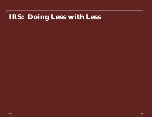 PwC IRS: Doing Less with Less 48