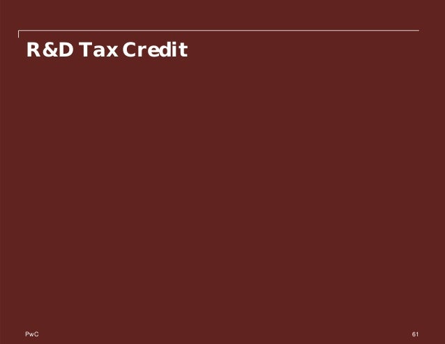 PwC R&D Tax Credit 61
