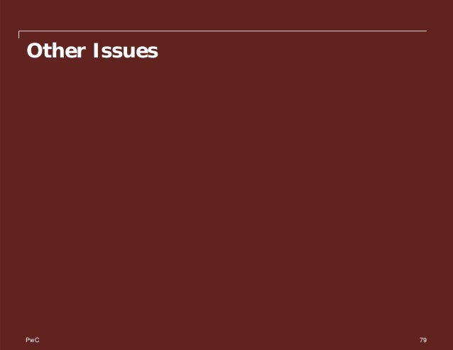 PwC Other Issues 79