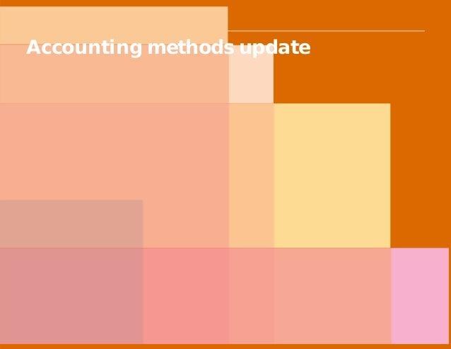 PwC Accounting methods update