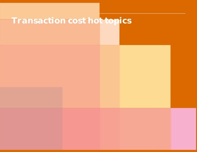 PwC Transaction cost hot topics