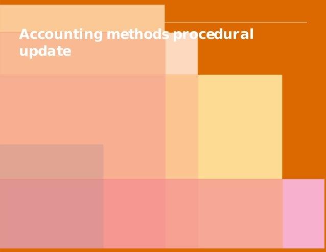 PwC Accounting methods procedural update