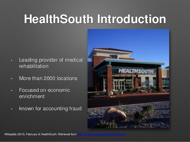 healthsouth scandal pdf