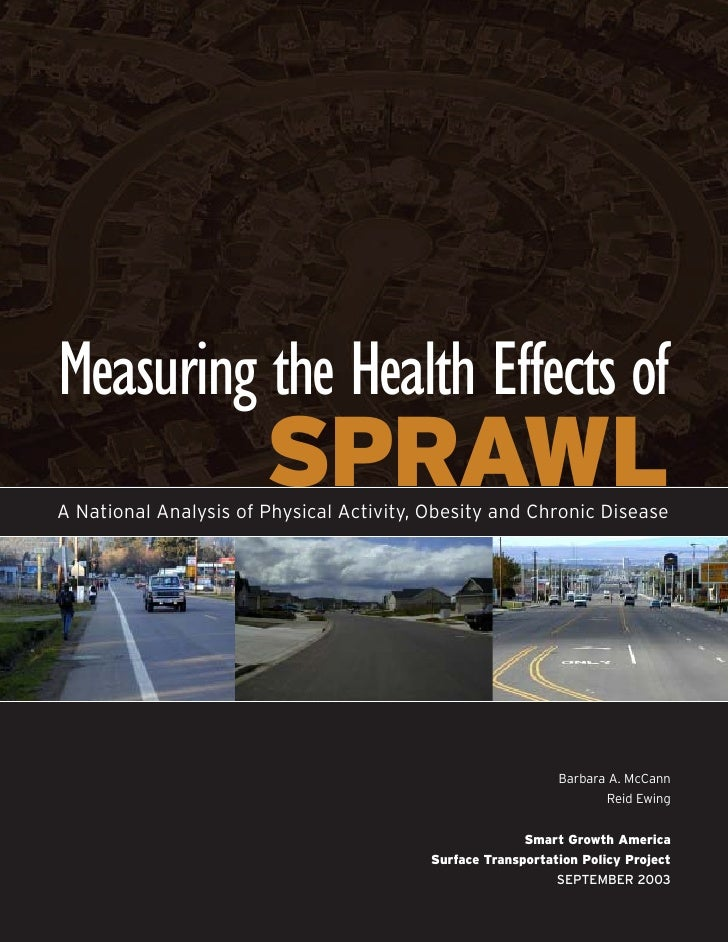 Measuring the Health Effects of                       SPRAWLA National Analysis of Physical Activity, Obesity and Chronic ...