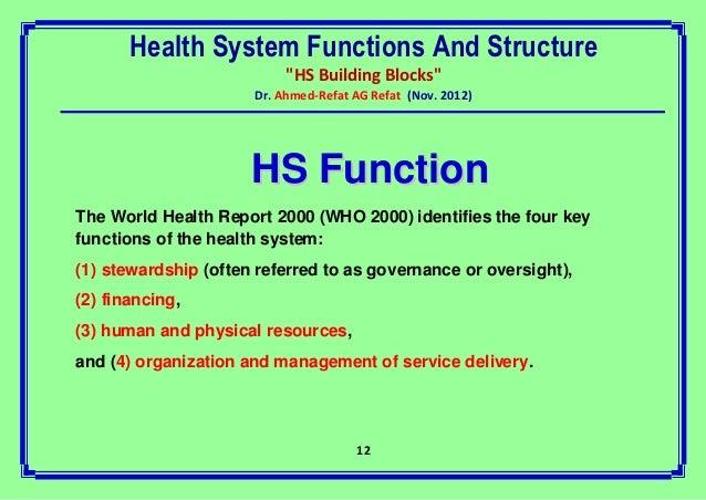 world health report 2000 world health organization