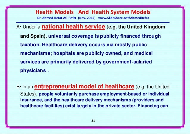 Health system models-an overview
