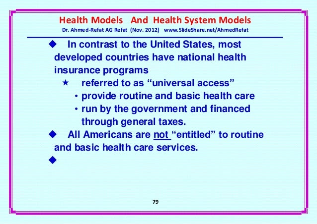 An argument in favor of a universal health coverage system in the united states