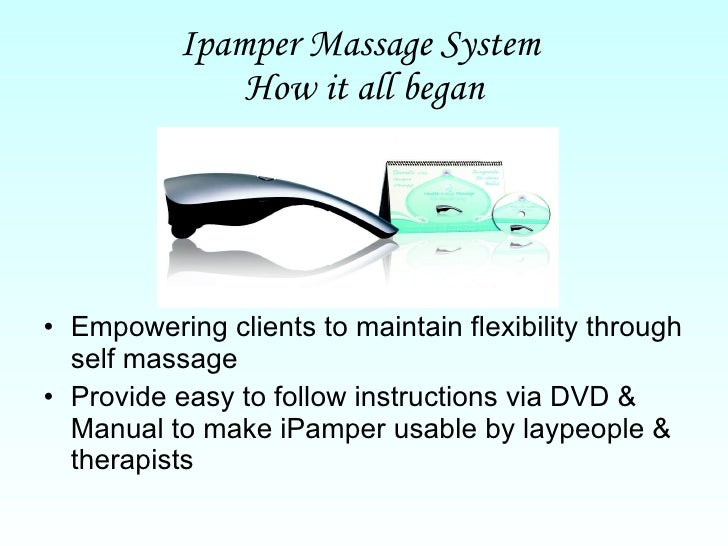 Health Through Massagesiew Allen Dvd And Manual Of Ipamper Electric