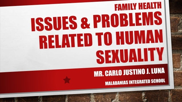Related issues about human sexuality