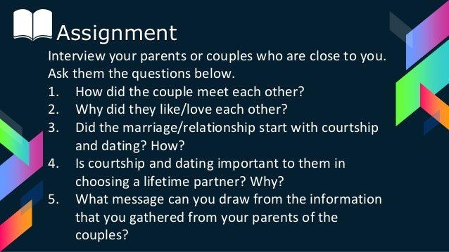 Courtship, Dating, and Marriage - MAPEH 8 (Health 2nd Quarter)