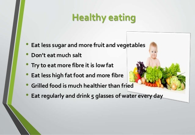 Importance Of Eating Healthy Food Speech