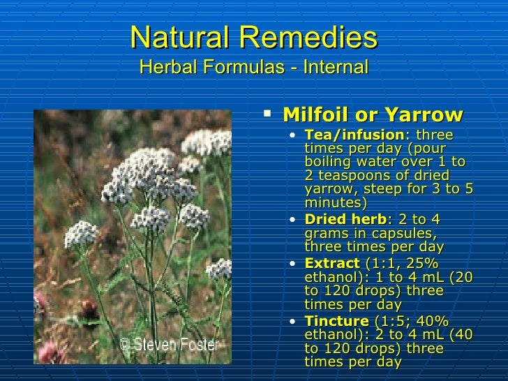 Natural Remedies For Milfoil