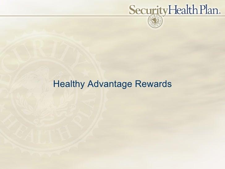 Healthy Advantage Rewards