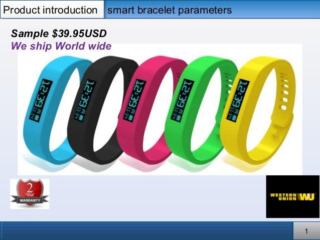 smart bracelet parameterssmart bracelet parametersProduct introductionProduct introduction 11 Sample $39.95USD We ship Wor...