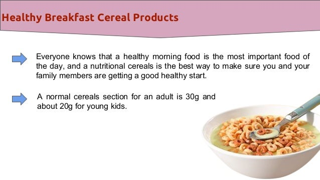 Healthy breakfast cereal products are a source of energy for people healthy breakfast ccuart Images