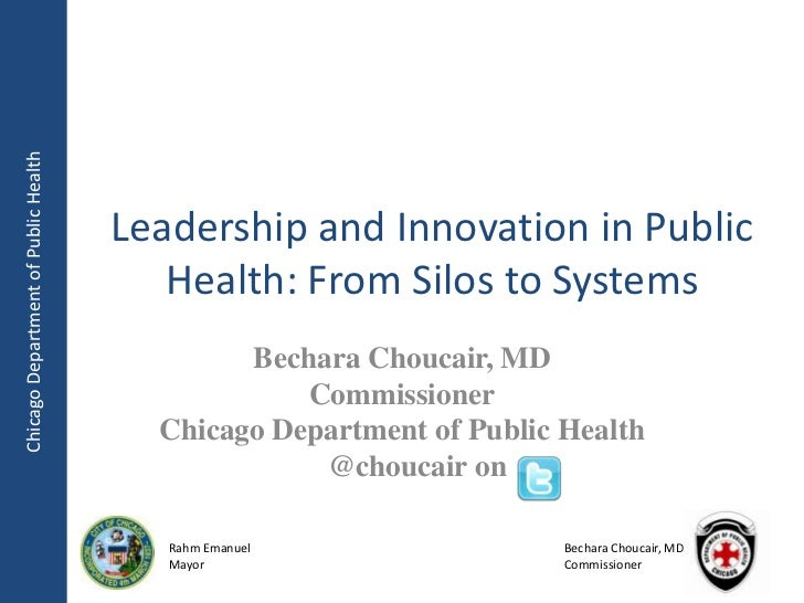Chicago Department of Public Health                                      Leadership and Innovation in Public              ...