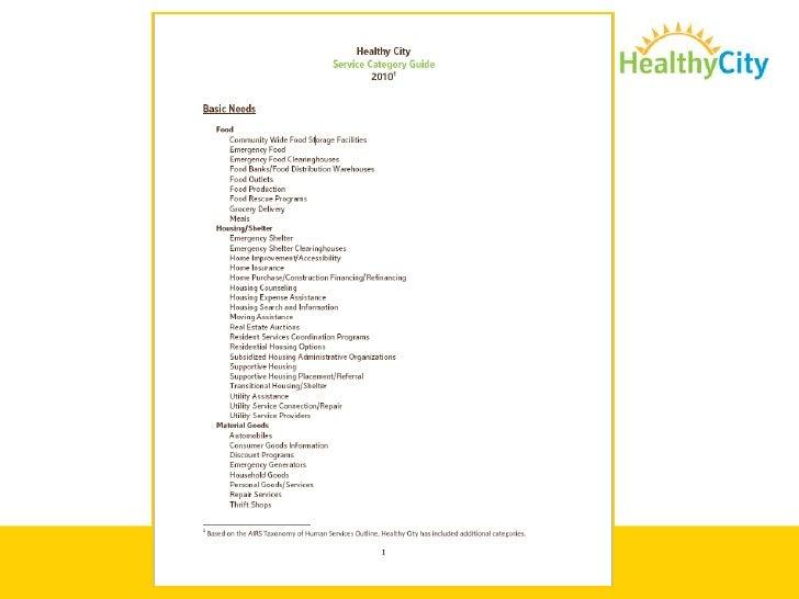Resource Guides Available:<br />Click on <br /><ul><li> Service Categories</li></li></ul><li>